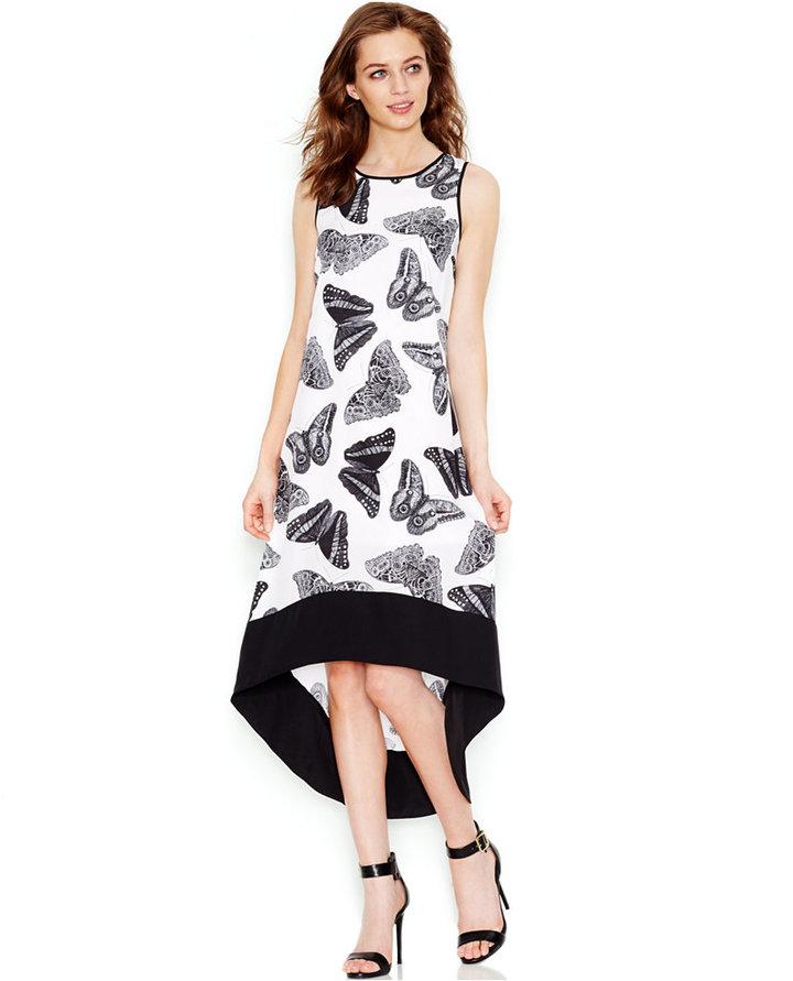 4fbb0e2a6f ... Kensie Printed High Low Dress ...