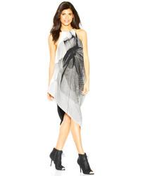 Rachel Roy Rachel Sleeveless Halter Neck Printed Sheath Midi Dress