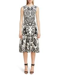 Alexander McQueen Shell Jacquard A Line Dress