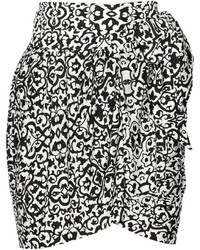 Isabel Marant Jeryl Printed Stretch Jersey Wrap Mini Skirt