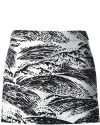 Kenzo wave print mini skirt medium 159282