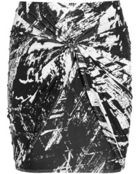 Helmut Lang Printed Stretch Jersey Mini Meteor Skirt