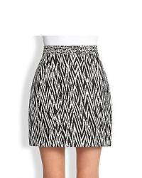 Proenza Schouler Zigzag Jacquard Mini Skirt Black White