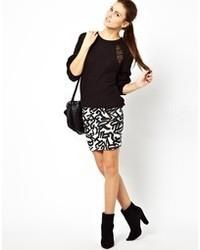 Vila Letter Jersey Skirt