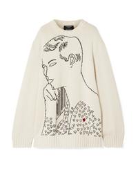Calvin Klein 205W39nyc Andy Warhol Foundation Oversized Intarsia Wool Sweater