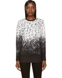 Black white scarp print sweatshirt medium 94219