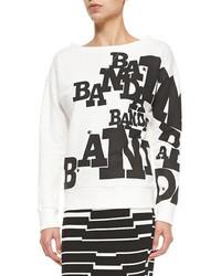 Band Of Outsiders Boat Neck Banda Ladybug Sweatshirt