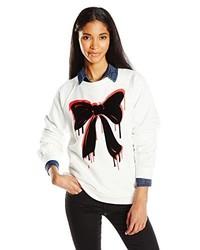 Love Moschino Bow Print Oversized Sweatshirt