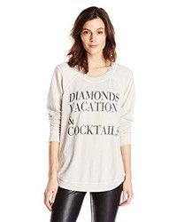 Chaser Diamonds Vacation And Cocktails Reverse Shoulder Shirt Sweatshirt