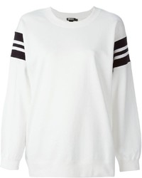 DKNY Striped Panel Sweatshirt