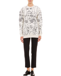 Face embroidered sweatshirt medium 94218