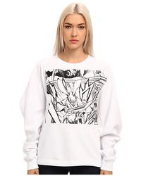 Mcq Placed Manga Sw Kimono Sweatshirt