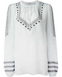 Altuzarra tie embroidered blouse medium 229847