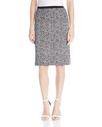 Calvin Klein Print Scuba Pencil Skirt