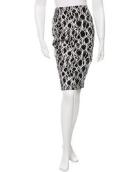 Elizabeth and James Foil Printed Pencil Skirt W Tags