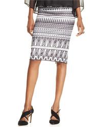 ECI Geo Print Pencil Skirt