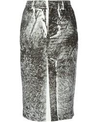 McQ by Alexander McQueen Mcq Alexander Mcqueen Trompe Lil Print Pencil Skirt