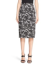 Michael Kors Michl Kors August Floral Print Stretch Cotton Pencil Skirt