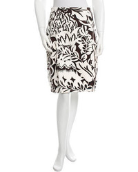 Carolina Herrera Printed Pencil Skirt