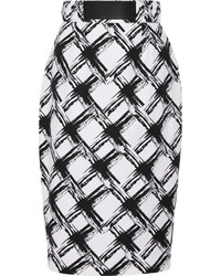 Printed ramie and cotton blend pencil skirt medium 851611