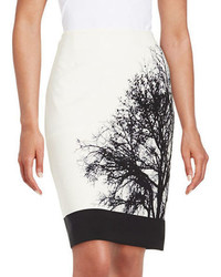 Tahari Arthur S Levine Graphic Pencil Skirt