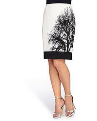 Tahari Asl Novelty Printed Pencil Skirt