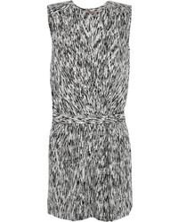 Heritage printed stretch silk playsuit medium 38885
