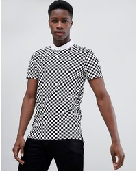 Tom Tailor Polo Shirt In Checkerboard Print