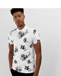ASOS DESIGN Tall Polo With All Over Floral Print