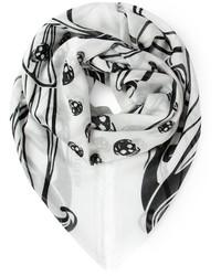 Alexander mcqueen tribal skull print scarf medium 128260