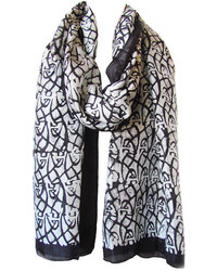 Lov Project Cosmic Print Silk Scarf In Blackwhite