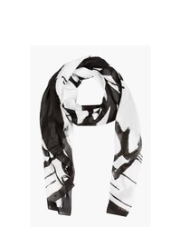 McQ Alexander McQueen Black And White Swallow Scarf