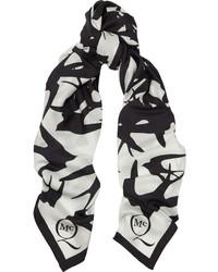 Mcq alexander mcqueen printed silk crepe de chine scarf mcq alexander mcqueen medium 128259