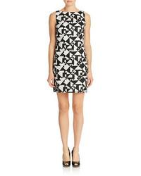 Geo print shift dress medium 255011
