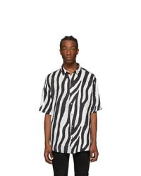 Ksubi Black And White Animal Short Sleeve Shirt