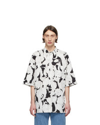 Givenchy Black And White Oversize Patch Shirt