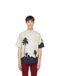 Dries Van Noten Off White And Black Len Lye Edition Tattoo Short Sleeve T Shirt