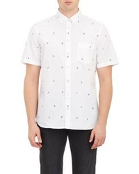 Rag and Bone Rag Bone Toucan Print Short Sleeve Shirt