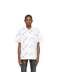 Off-White White All Over Logo Holiday Short Sleeve Shirt