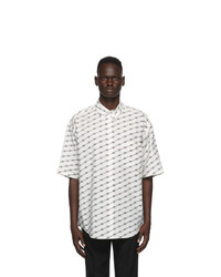 Balenciaga White License Large Fit Short Sleeve Shirt