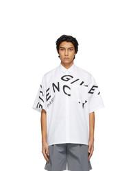 Givenchy White Refracted Logo Short Sleeve Shirt