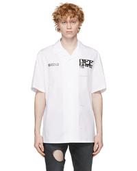 Off-White White Tech Marker Holiday Short Sleeve Shirt