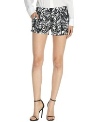 RD Style Black And White Printed Drape Shorts