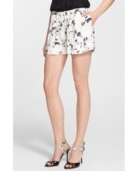 Haute Hippie Print Silk Shorts