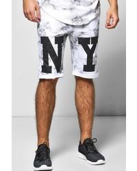 Boohoo Ny Printed Jersey Shorts