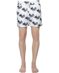 Palm Trees Printed Nylon Swim Shorts