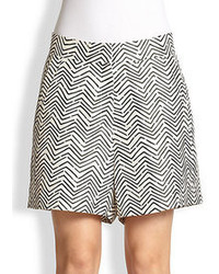 Silk zigzag print shorts medium 70424