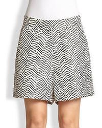Acne Studios Silk Zigzag Print Shorts
