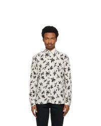 Saint Laurent Off White And Black Silk Flower Shirt