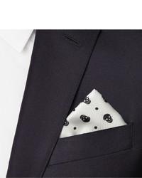 be933649b4b27 Alexander McQueen Skull Print Silk Pocket Square, $165 | MR PORTER ...